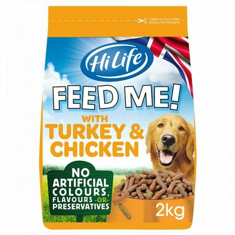 HiLife Feed Me Turkey & Chicken Dog Food (2kg) (May Vary)