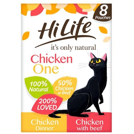 HiLife Its Only Natural Pch The Chicken One In Jelly 8Pk 70g x 4 (71918)