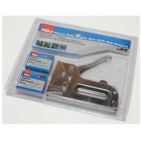Hilka 20300800 Heavy Duty Staple Gun With 800 Staples