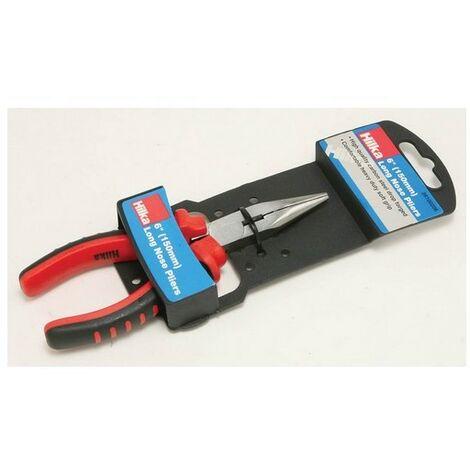 Hilka 26100206 Long Nose Pliers 150mm Soft Grip Handles