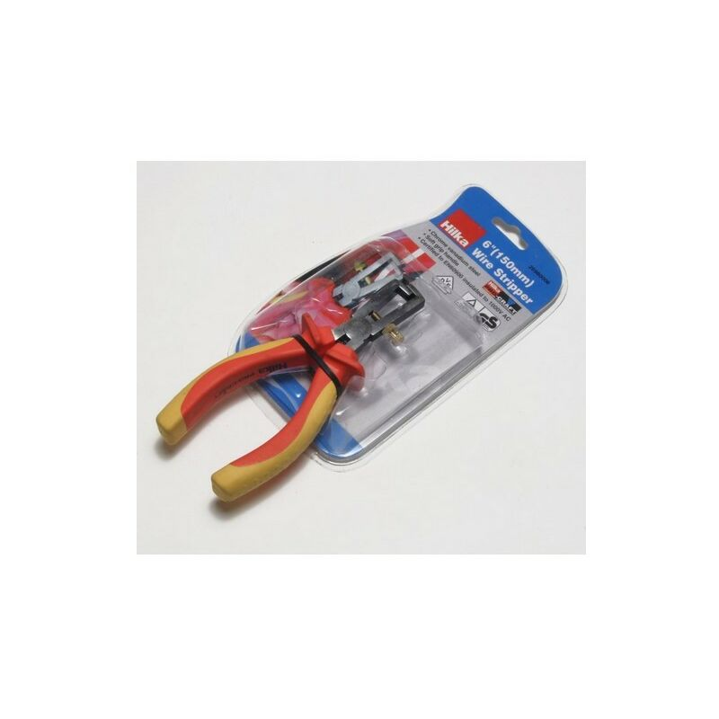 Image of 26980006 VDE Wire Stripping Pliers 150mm - Hilka