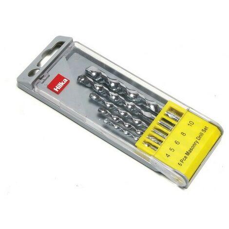 Hilka 49805005 Masonry Drill Bit Set of 5
