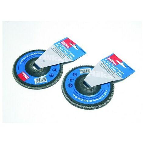 "Hilka 51404004 Flap Disc 4.1/2"" (115mm) 40 Grit"