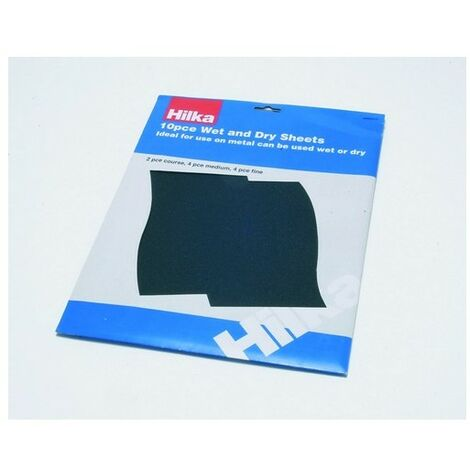 Hilka 68902010 Wet and Dry Sheets Pack of 10 Assorted