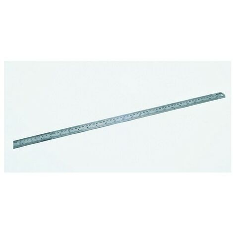 "Hilka 75600024 Matt Stainless Steel Ruler Matt Finish 24"" 600mm"