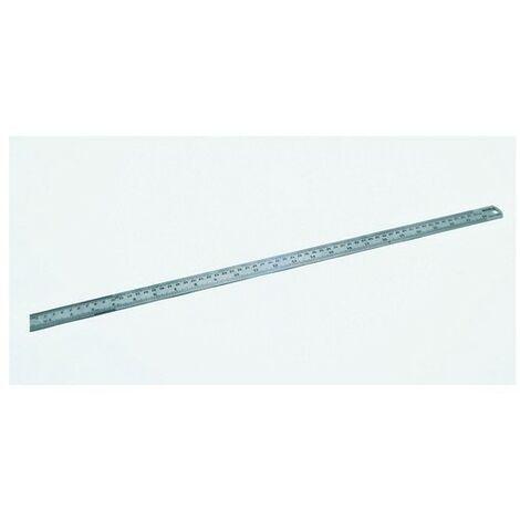 "Hilka 75600040 Matt Stainless Steel Ruler Matt Finish 40"" 1000mm"
