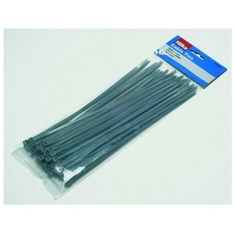 Hilka 79048250 Cable Ties Grey 4.8 x 250mm Pack of 50