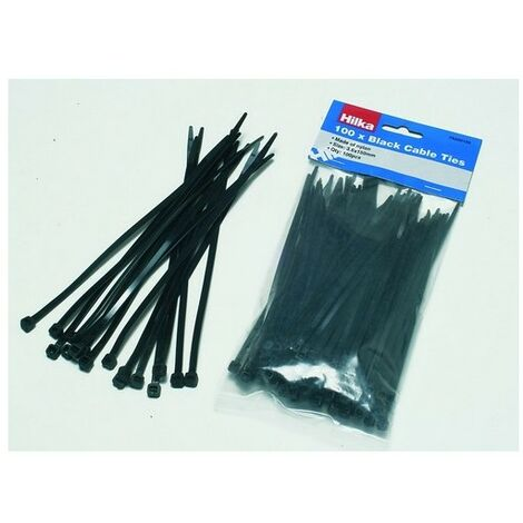Hilka 79250200 Cable Ties Black 4.8 x 200mm Pack of 100