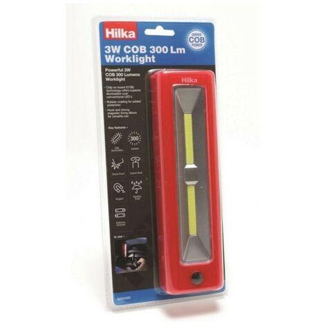 Hilka 82040300 Worklight with Batteries 3 Watt COB 300 Lumens