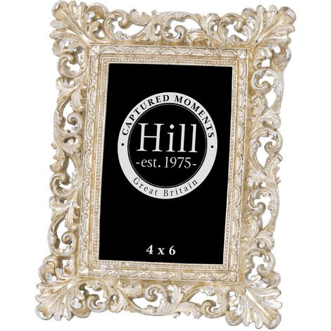 Hill Interiors Antique Champagne Ornate Cut Out Photo Frame