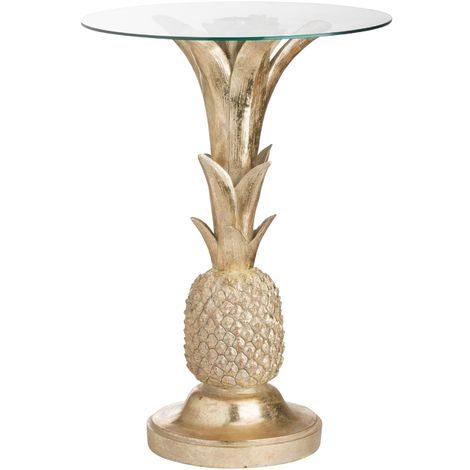 Hill Interiors Ashby Pineapple Side Table (One Size) (Gold)