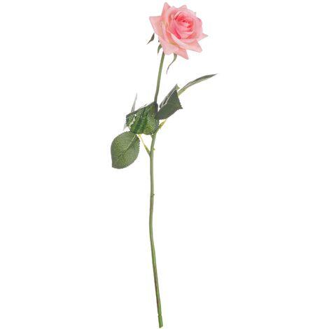 Hill Interiors Garden Rose Artificial Flower (One Size) (Pink/Green)