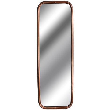 Hill Interiors Industrial Rectangular Copper Effect Mirror (80 x 26 x 4.5cm) (Copper)