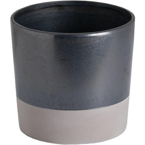 Hill Interiors Metallic Ceramic Planter