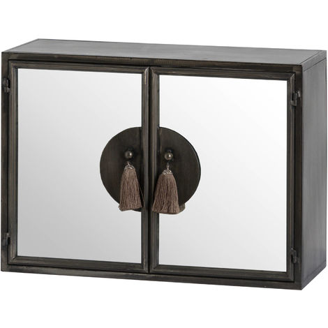 Hill Interiors Mirrored Wall Cabinet (One Size) (Silver)