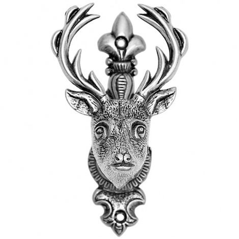 Hill Interiors Silver Deer/Stags Head Hanger (One Size) (Silver)