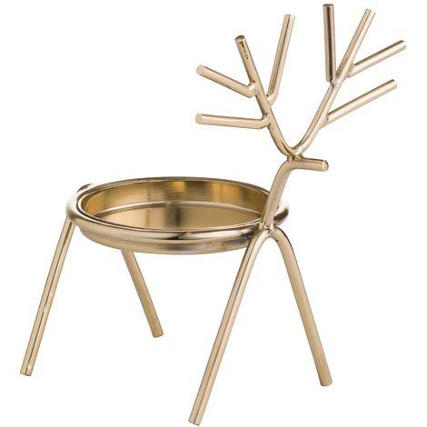 Hill Interiors Silver Stick Reindeer Tealight Holder