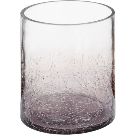 Hill Interiors Smoked Crackle Effect Candle Holder