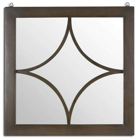 Hill Interiors Vinus Collection Square Wall Mirror (One Size) (Brown)