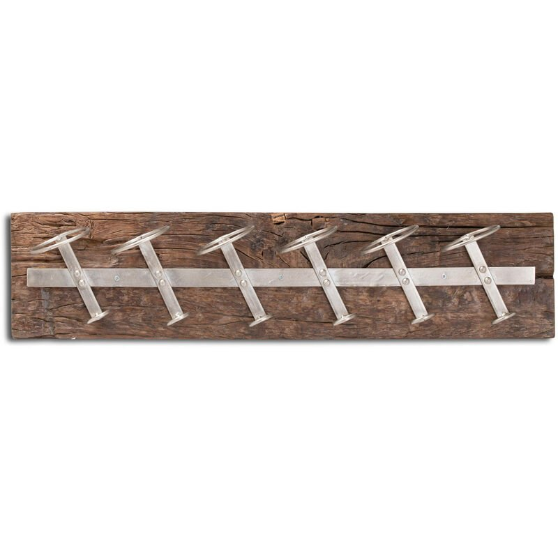 Image of Wine Rack (One Size) (Brown/Silver) - Hill Interiors