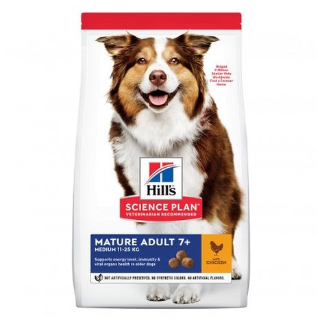 Hills Science Plan Canine Mature Adult 7+ Active Longevity Razas Medianas con Pollo