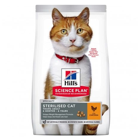 Hill's Science Plan Pienso Seco Feline Young Adult Sterilized Cat Pollo