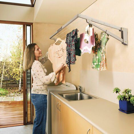 Hills Supa Fold Mini Wall Mounted Folding Clothes Washing Line