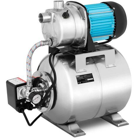 Hillvert Groupe Hydrophore Surpresseur Pompe De Surface 1000W 3 100 l/h 19L