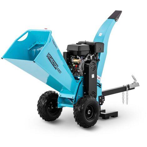 Hillvert Triturador a Gasolina Máquina Poda con Dos Cuchillas 15 PS