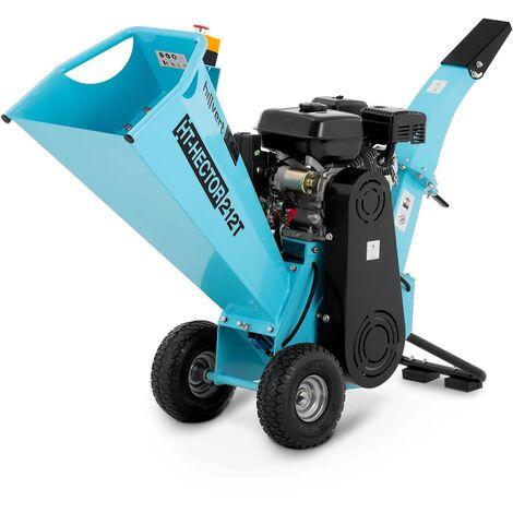 Hillvert Triturador a Gasolina Máquina Poda con Dos Cuchillas 7 PS