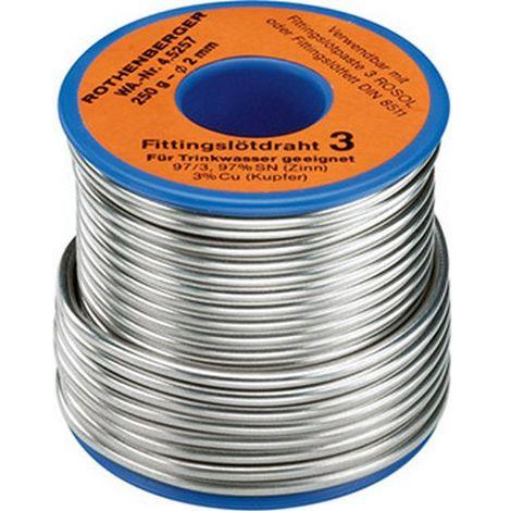 Hilo de aporte, Modelo : bobina de 250 g, Ø 3,0 mm