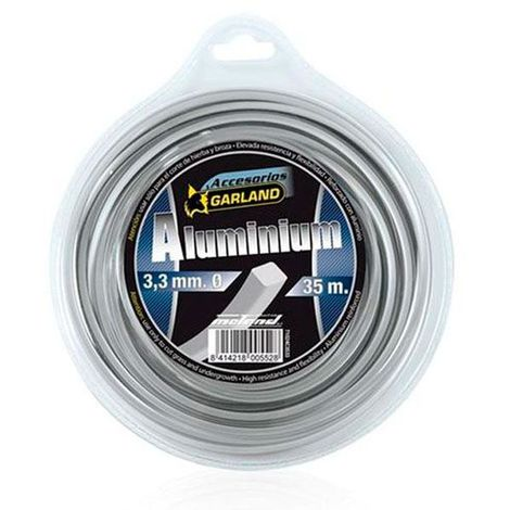 Hilo de nilón cuadrado con partículas de aluminio garland - varias tallas disponibles