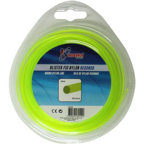 Hilo de nylon para desbrozadoras redondo 1,6MMX15mt.