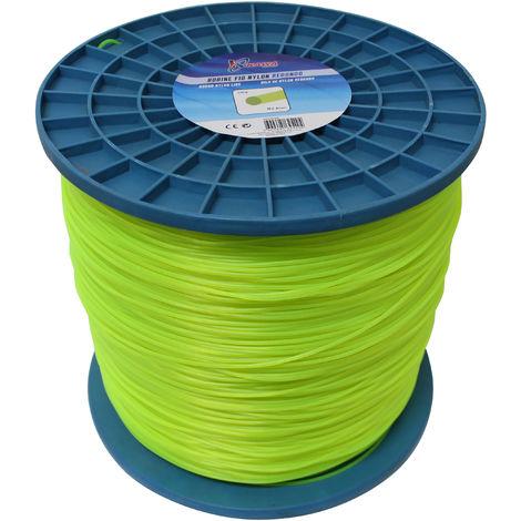 Hilo de nylon para desbrozadoras redondo 2,4MM 10KG.