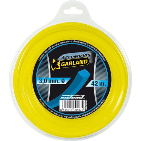 Hilo desbrozadora cuadrado Garland C4230 3,0MM X 42MT