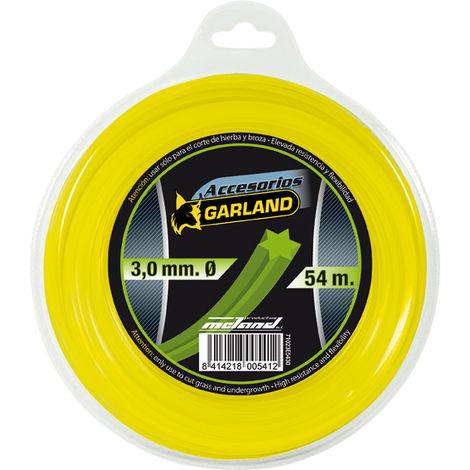 Hilo desbrozadora helicoidal Garland E5430 3,00MM X 54MT