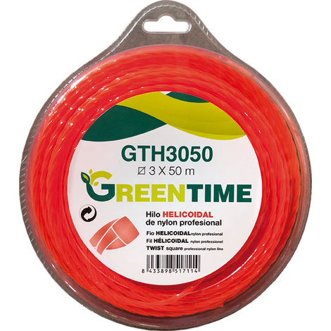 Hilo desbrozadora helicoidal Greentime GTH3050 3,00MMX50M