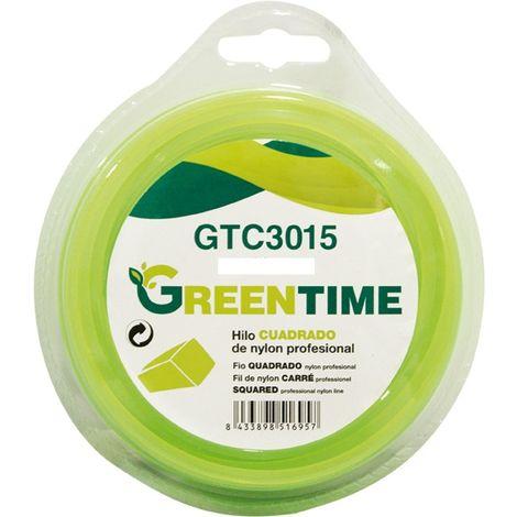 Hilo nylon cuadrado Greentime 3,3mm x30mt