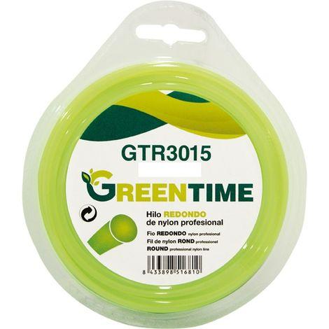 Hilo nylon redondo Greentime 3mm x 15mt
