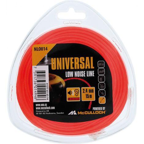 Hilo nylon ronda de desbrozadora 2,4 x 15 m 2,4 mmx15 m, Universal NLO014