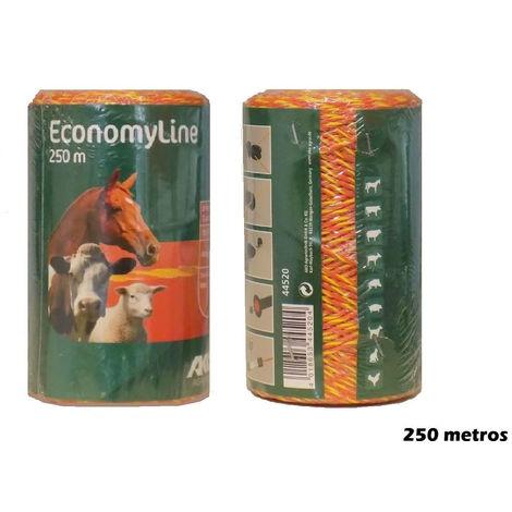 Hilo para pastor ECONOMY LINE para uso en cercas eléctricas - 250m x 16mm