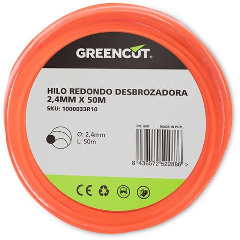 HILO REDONDO 2,4MM x 50M DESBROZADORA -RECAMBIO GREENCUT