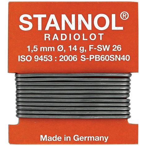 Hilo soldadura Radiolote Nr.508570 1m Stannol