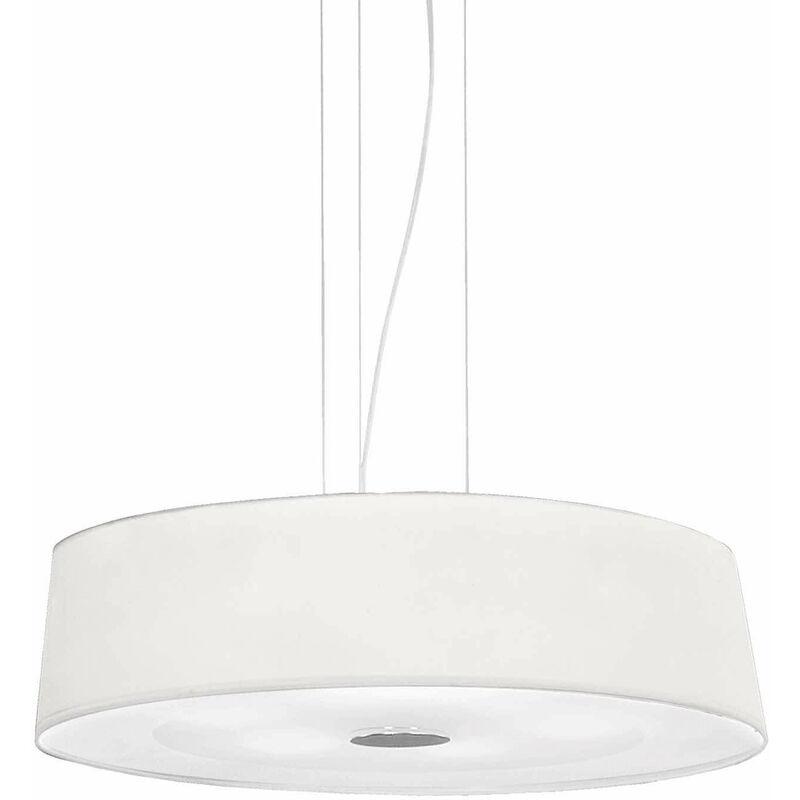 01-ideal Lux - HILTON weiße Pendelleuchte 4 Glühbirnen