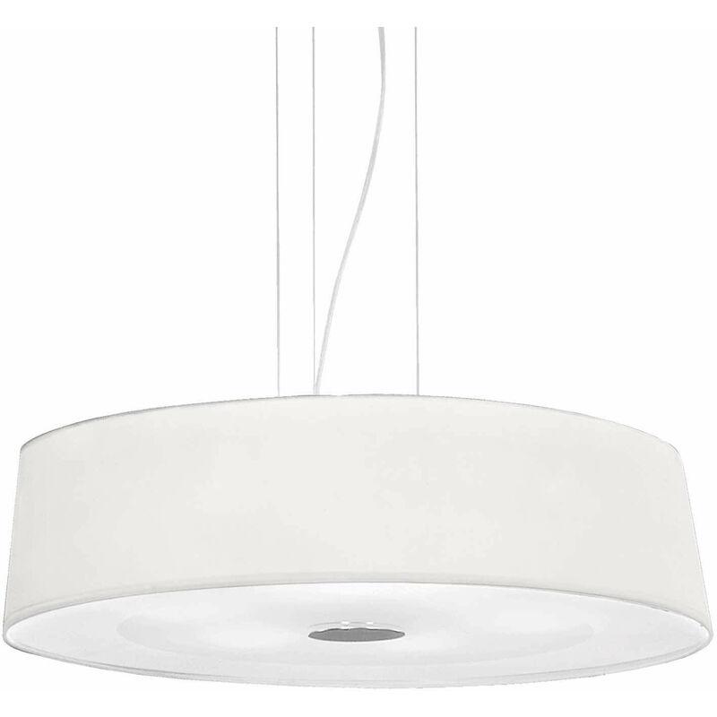 01-ideal Lux - HILTON weiße Pendelleuchte 6 Glühbirnen