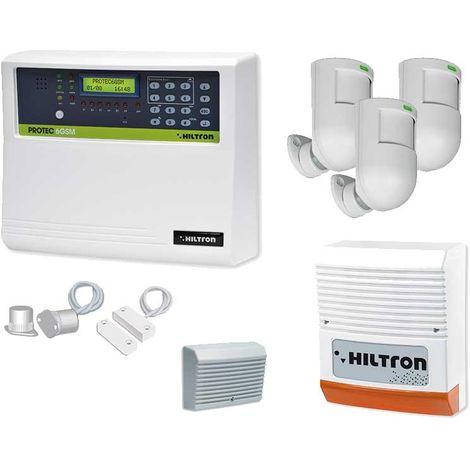 HILTRON KIT DE SISTEMA DE ALARMA ANTIRROBO 6 ZONAS GSM KPROTEC6GSM