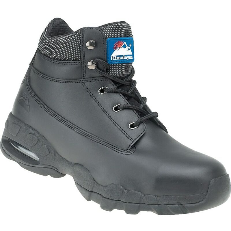 Image of Himalayan 4040 Black Safety Boots with Eva/Rubber Soles - Size 7