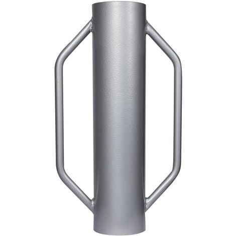 Hinca postes con agarre 13,5kg ?14cm, pisón manual acero para clavar postes, vallar, compactar suelo