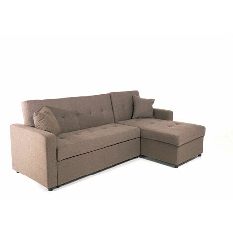 Hinton L Shaped Corner Sofa Bed with Hidden Storage and Reversible Chaise - Versatile LH or RH orientation