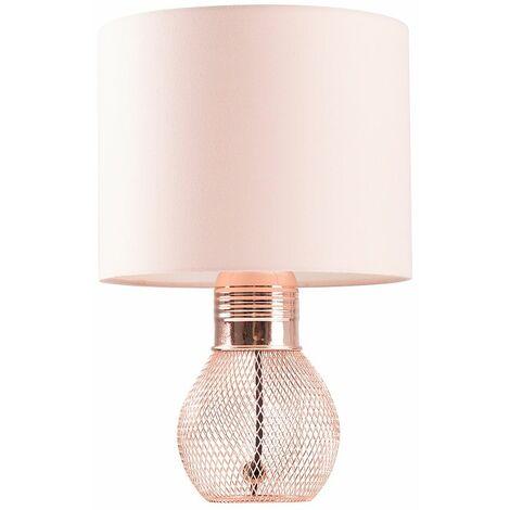 Hiram Mesh Table Lamp In Copper + LED Bulb